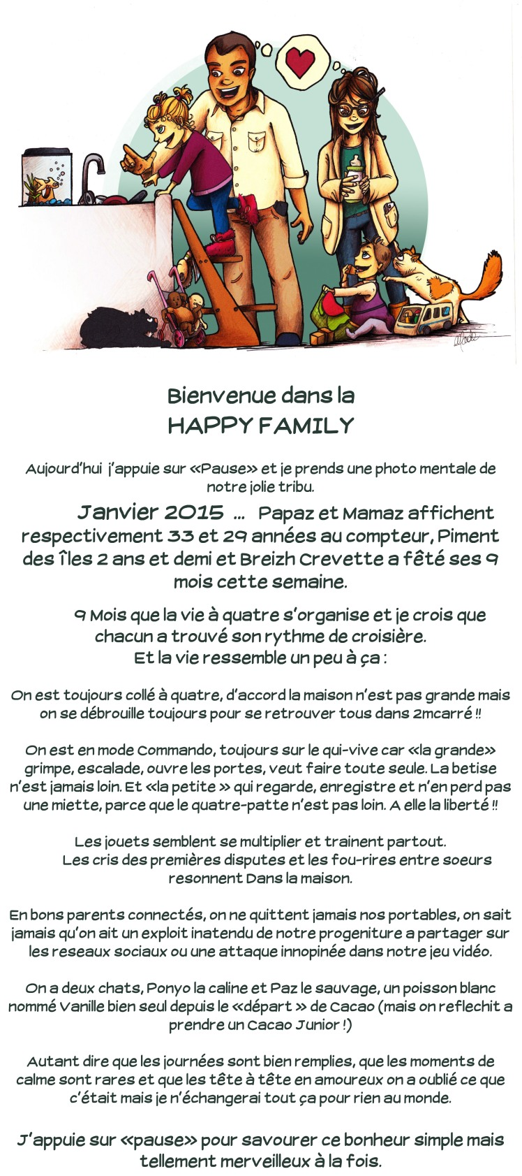 Article blog happy family