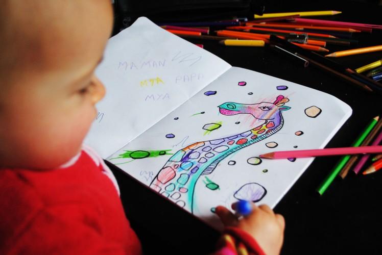 Cahier de coloriage et de dessin- MaDe en couleur Le blog