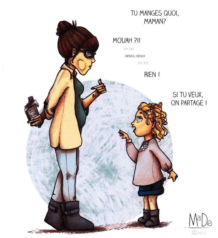 Illustration- Brève de vie #2 -Blog MaDe en couleur