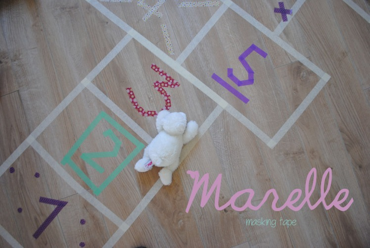 DIY Marelle masking tape- MaDe en couleur 9