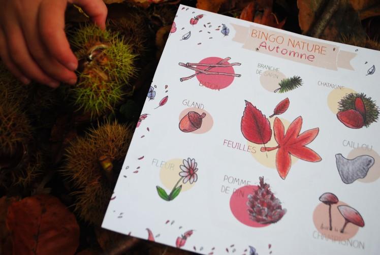 BINGO NATURE - Automne 3- MaDe en couleur le blog ©2015