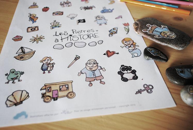 Pierres à Histoires 12 - DIY Free printable - MaDe en couleur le blog - © 2016