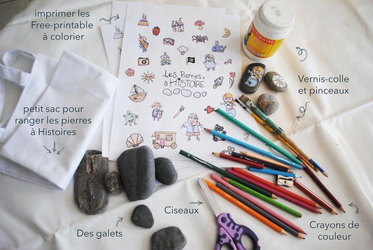 Pierres à Histoires - DIY Free printable - MaDe en couleur le blog - © 2016