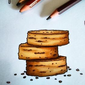 PALET BRETON - Illustration planche sur la gastronomie Bretonne ©2015