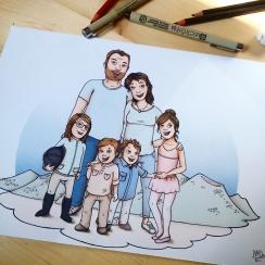 Portrait de Famille - illustration sur commande ©2016