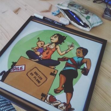 Ma famille illustrée - illustration sur commande ©2015